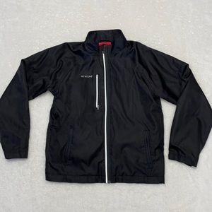 CCM Youth Hockey Jacket Black Full Zipper NICE
